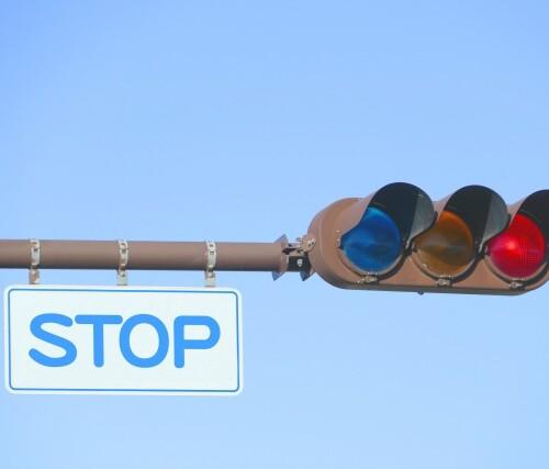 赤信号止まれ